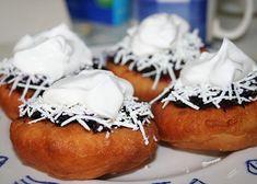 Smažené vdolky recept - TopRecepty.cz Baked Potato, Muffin, Lemon, Potatoes, Baking, Breakfast, Ethnic Recipes, Food, Morning Coffee