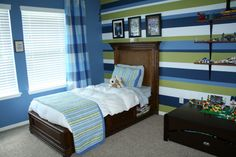 A big boy room for Levi., I didnt want to do a heavily themed room for my son because he changes his interests every 6 months.  It took me s...