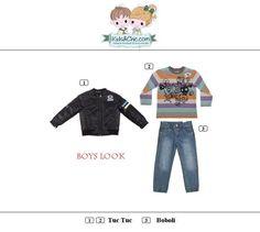 #Casual #look for #boys from #Boboli and #TucTuc. Discover at: www.kidsandchic.com/boy   #boysclothing #boysfashion #kidsfashion #trendychildren #kidsclothing #toddlerclothes #shoponline #shoppingbarcelona #jacket #tshirt  #boystshirt #jeans #boysjeans #denim  #backtoschool #vueltaalcole