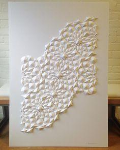 New Geometric Paper Sculptures from Matthew Shlian   Colossal