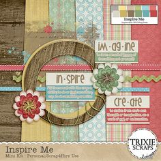 Inspire Me mini kit freebie from Trixie Scraps