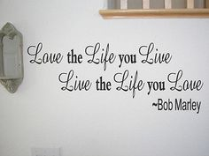 Vinyl Wall Art Decoration Inspirational Bob Marley Wall Quote