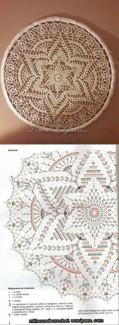 New Ideas Crochet Mandala Flower Doily Patterns Filet Crochet, Beau Crochet, Crochet Chart, Crochet Home, Thread Crochet, Crochet Gifts, Crochet Stitches, Crochet Round, Motif Mandala Crochet