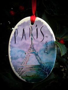 Your place to buy and sell all things handmade Paris Winter, Watercolor Canvas, Art Reproductions, American Artists, Decorative Items, Display, Fine Art, Christmas Ornaments, Holiday Decor