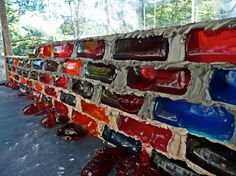 lisa hein + robert seng build a wall of jello bricks