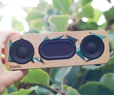 Hey everyone! Today I'm going to show you how I built this super simple 10 watt bluetooth speaker - an excellent companion for these summer months! I've been designing, refining, and tweaking this speaker design over the past few months, and I'm happy to say that it's now as simple, affordable, good looking and good sounding as it can possibly be! This speaker is based around a 1 cell battery, all wrapped up in a multi-layer plywood enclosure. Specs: 5W output per Channel Blue...