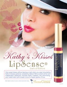 Introducing a brand new, limited-edition #LipSense shade, Kathy's Kisses! Created by Independent Distributor and Make It Mine Contest winner, Kathy Freeland, this juicy watermelon pink shade is sure to inspire sparks of love with rich, gorgeous color that lasts up to 18 hours! Get yours today, just in time for Valentine's Day! www.senegence.com