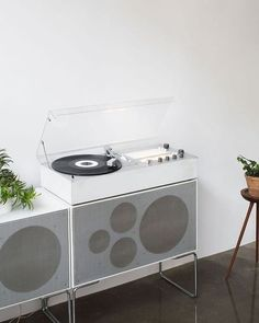 // Dieter Rams designed, Braun Audio 1 Hifi system in the Thisispaper flagship store in Warsaw. Audio Design, Speaker Design, Dieter Rams Design, Braun Dieter Rams, Bauhaus, Braun Design, Automotive Design, Eames, Vintage Designs