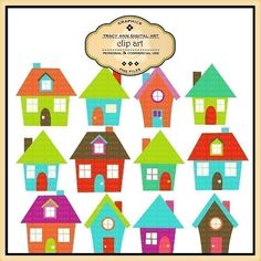 House Clipart   for commercial and personal use. on Etsy, $4.95