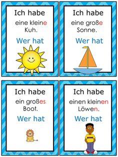 German accusative case grammar game: Ich habe...Wer hat?