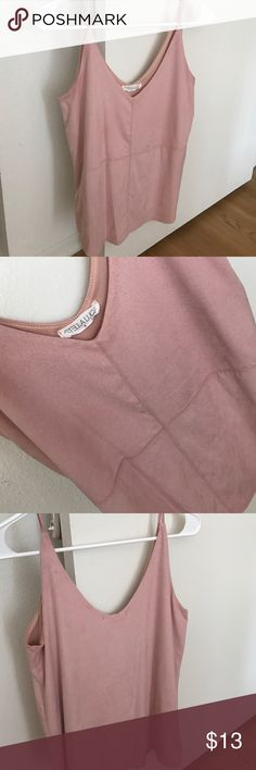 Soft Suede-like Camisole Beautiful, super soft, suede-like camisole worn a few times. Pale pink, size small. Stella Luc Tops Camisoles