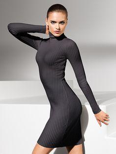 Wolford Online Shop > Merino Rib Dress Turtleneck