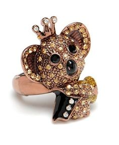 betsey johnson koala ring // koala with a crown?  sign me up!
