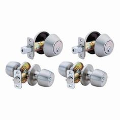 Defiant Brandywine Single Cylinder Stainless-Steel Entry Knob and Deadbolt Project Pack   Model # B86L1D  Internet # 100203008  Store SKU # 492487      $29.94 /EA-Each