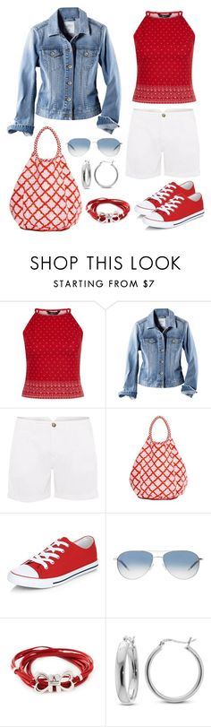 """""""Untitled #1021"""" by gallant81 ❤ liked on Polyvore featuring New Look, H&M, Tommy Hilfiger, Oliver Peoples, Salvatore Ferragamo and Belk Silverworks"""