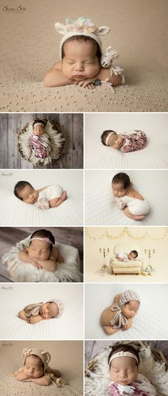 Gorgeous cream color palette for 10 day old Eva in studio. Sunny S-H Photography Winnipeg