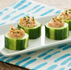 Try this delicious Smoked Trout in Ranch Cucumber Cups recipe today!