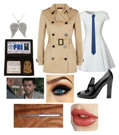 """""""I'm the one who gripped you tight, and raised you from perdition. 😇 ~ Castiel"""" by hannah-0332 ❤ liked on Polyvore featuring Glamorous, Jaeger, MANGO, Chanel and Icz Stonez"""