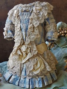 ~~~ Superb French Bebe Silk Costume with Bonnet ~~~ from whendreamscometrue on Ruby Lane
