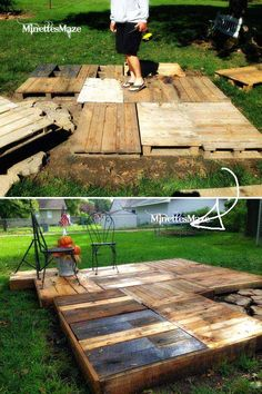 15 Stunning Low Budget Floating Deck Ideas For Your Stunning Low Budget Floating Deck Ideas For Your Home . 15 Stunning Low Budget Floating Deck Ideas For Your Home . Deck Over Pond Boulder Steps Towering Firs Japanese Y - Home Design Ideas Floating Deck Plans, Building A Floating Deck, Building A Deck, Pallet Patio Decks, Backyard Patio Designs, Backyard Landscaping, Palet Deck, Landscaping Design, Deck Design