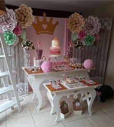 añito joaquina - princess - shabbic chic birthday party i 14th Birthday Party Ideas, Birthday Gifts For Teens, 16th Birthday, 1st Birthday Princess, Princess Party, Girl Birthday, Dream Party, Deco Table, Vintage Design