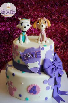 Paw Patrol's Skye & Everest - Cake by Baby Got Cakes