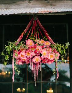 CHANDALIERE OF FLOWERS
