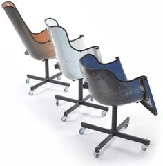 Funky! Chairs repurposed from...bathtubs!... It took me a minute to see it... Cool!