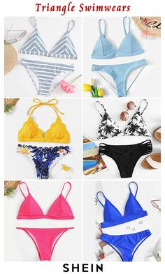 Triangle Swimwears - Triangle Swimwears Source by SHEINofficial - Sunset Quotes Life, Happy Life Quotes, Cut Out Bikini, High Cut Bikini, Belted Shirt Dress, Tee Dress, Beautiful Vacation Spots, Long Slip Dress, Vacation Quotes
