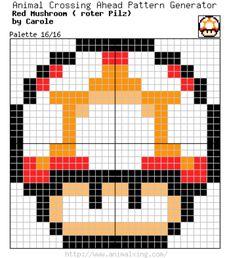 Mario Bros. Red Mushroom_Palette 16/16