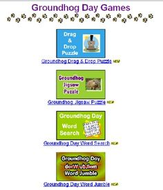 More online Groundhog Day Games-  Pinned by @PediaStaff – Please Visit http://ht.ly/63sNt for all our pediatric therapy pins
