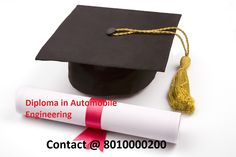 Distance|Part Time|Online Diploma Course In Automobile Engineering In Delhi/NCR. For more info Contact @ 8010000200