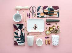 George & co. collection designed and curated by NZ designers JS Ceramics - styling by Revised Edition style How To Look Pretty, Pretty In Pink, Flat Lay Photography, Product Photography, Cute Kitchen, Kitchen Supplies, Ceramic Design, Pink Aesthetic, Interior Styling