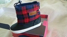 Baby shoe size 1 soft sole Tommy Hilfiger toggle boots NWB