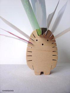Desk organizer  - Photo holder - Hedgehog from mielasiela by DaWanda.com