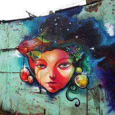 Raf in Perú, 2016 Murals Street Art, Graffiti Art, Graffiti Names, Street Wall Art, Graffiti Tagging, Urbane Kunst, Bird Free, Amazing Street Art, Artists For Kids