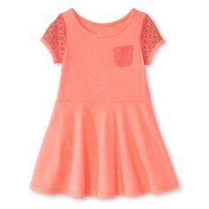 Toddler Girls' Short Sleeve Knit Dress Peach - Circo, Toddler Girl's