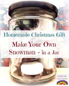 {Make Your Own Snowman in a Jar} Too cute...