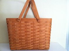 Large Retired 1993 Longaberger Basket by TrueNorthInteriorDes, $65.00