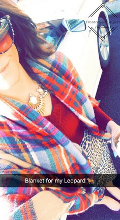 Blanket Scarf Look to Try Now