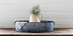 Antique Granite Enamelware Basin available from KnickofTime