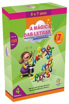 coleção a mágica das letras alfabetização 6 a 7 anos +brinde