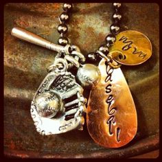 Baseball mom necklace with charms - Another one found while seeking Easter gifts. Thanks momofbusyboys