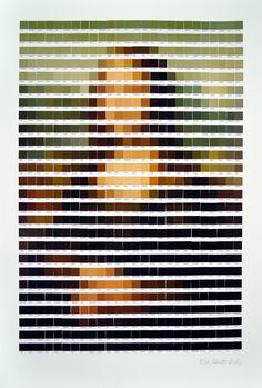 Grandes obras de arte recriadas com a escala Pantone
