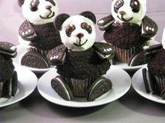 panda cup cake