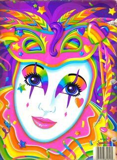 Clown by Lisa Frank Lisa Frank Stickers, Send In The Clowns, 90s Kids, Mardi Gras, Rainbow Colors, Childhood Memories, Coloring Pages, Whimsical, Artsy