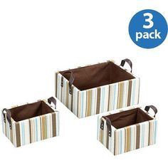 Household Essentials Bright Paper Seed Fashion Baskets, Set of 3, Multicolor