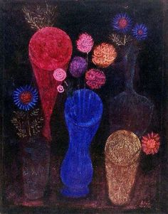"Paul Klee ~ ""Flowers In Glasses"" (1925)"