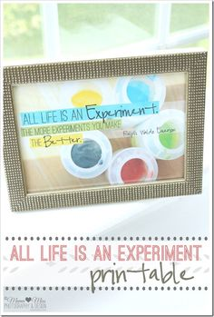 Free Printable: all life is an experiment {resize for project life}