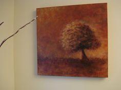 Lone Tree. Acrylic on canvas.